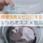 洗濯洗剤をゼロにするためのオススメ製品3選